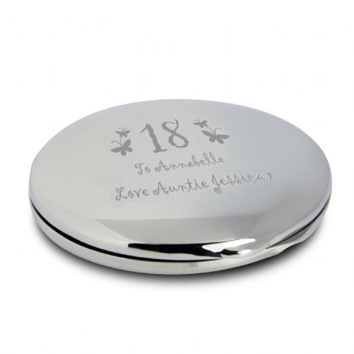 Personalised Butterfly Age Round Compact